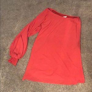 Coral/orange/rust  colored Lush dress